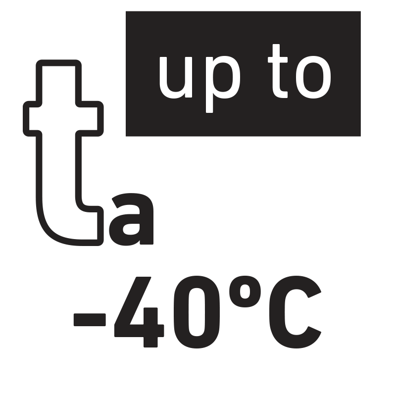 Nominal minimum temperature of environment -40 °C.